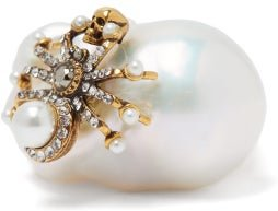 Spider Baroque Pearl Ring - Womens - Pearl