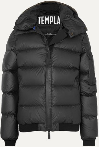 Membra Hooded Quilted Shell Down Jacket - Black