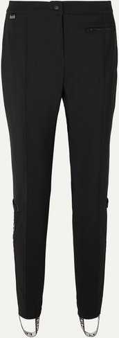 Roma Jacquard-trimmed Tapered Stirrup Ski Pants - Black