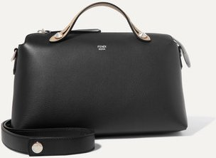 By The Way Small Color-block Textured-leather Shoulder Bag - Black