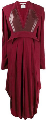 Sable crepe midi-dress - Red