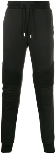 contrasting track pants - Black
