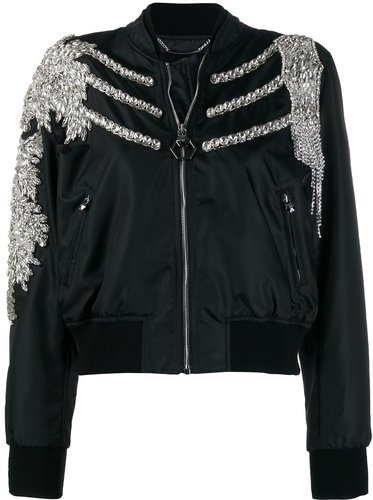 Crystal bomber jacket - Black