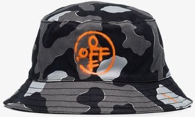 Grey camouflage bucket hat