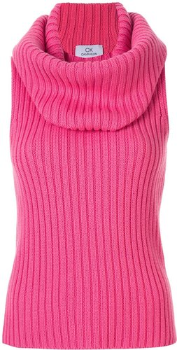 chunky ribbed top - PINK