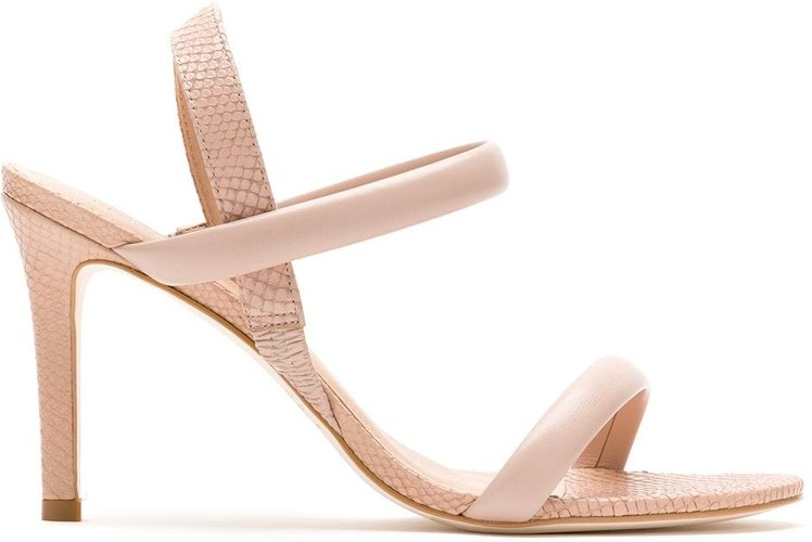 textured strappy sandals - Neutrals