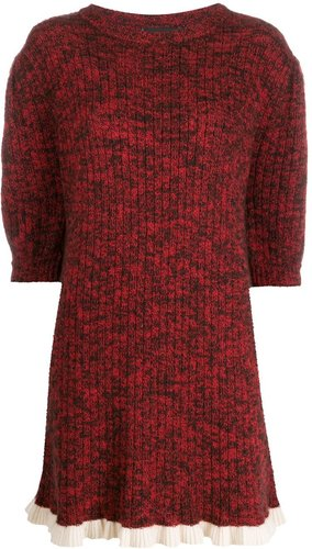 ribbed Petra sweater dress - Red