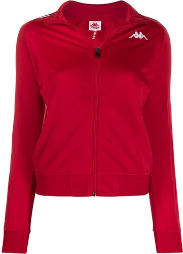 logo strap jacket - Red