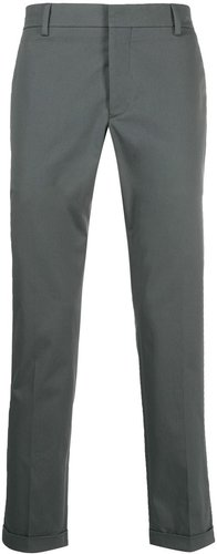 turned up hem trousers - Grey