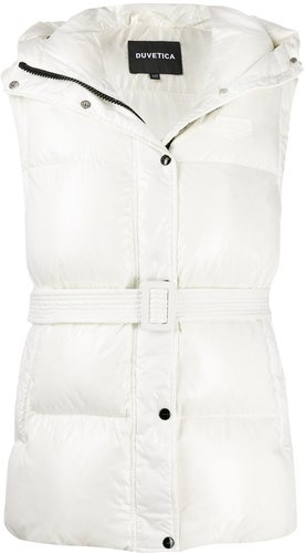 quilted down gilet - White