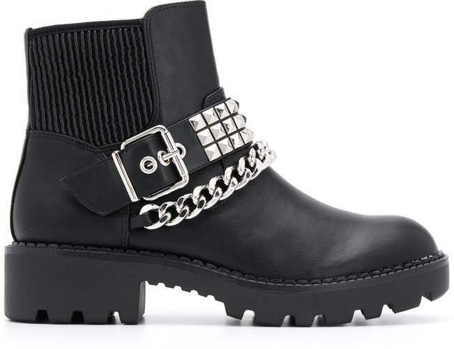 Falina chain ankle boots - Black