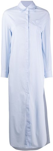 long-length shirt - Blue