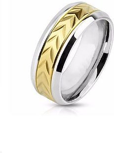 The Arrow Engraved Ring Gold