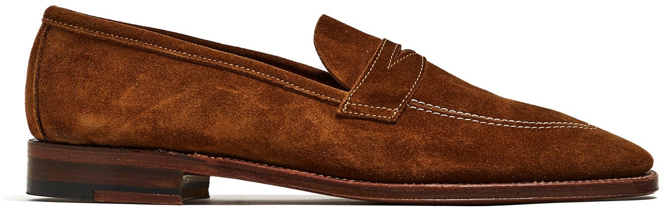 + Todd Snyder Snuff Suede Penny Loafer