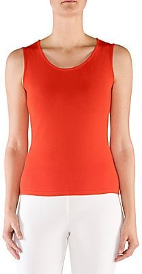 Sleeveless Shell Top - Coral - Size 54 (18W)