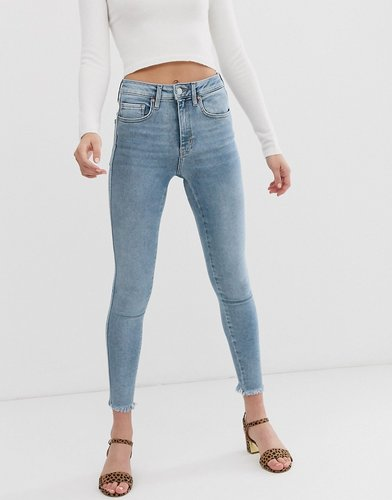 raw high rise jegging-Blue