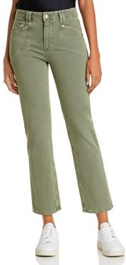 Cindy Ankle Straight Jeans in Vintage Emerald Moss