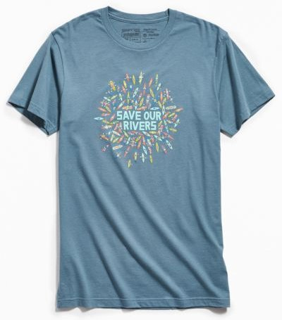 Patagonia Save Our Rivers Tee - Grey Xl at Urban Outfitters