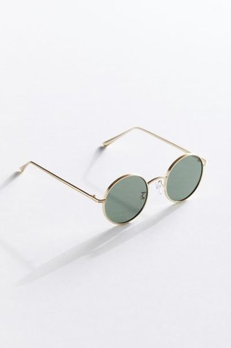 Rayanne Metal Round Sunglasses - Gold at Urban Outfitters