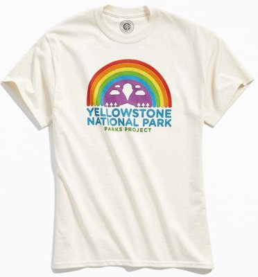 UO Exclusive Yellowstone National Park Tee - White L at Urban Outfitters