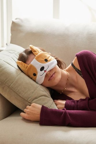 Eye Mask - Beige at Urban Outfitters