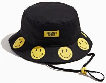 X Smiley UO Exclusive Bucket Hat - Black at Urban Outfitters