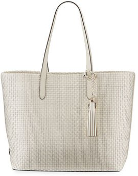 Payson Woven Leather Tote Bag