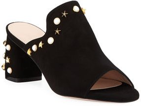 Dohickey Embellished Suede Mule Sandals