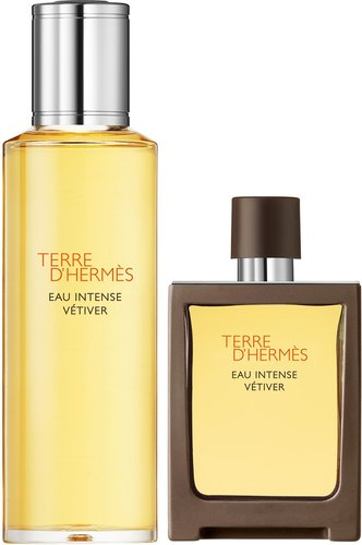 Terre D'Hermès Eau Intense Vétiver Eau De Parfum Travel Spray 30ml And Refill 125ml
