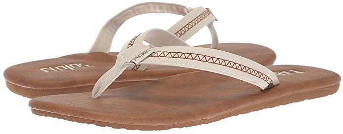 Claire (Ivory/Tan) Women's Toe Open Shoes