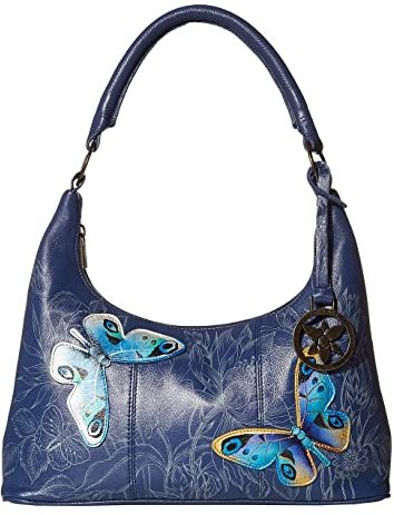 371 Medium Top Zip Hobo (Garden of Delights) Shoulder Handbags
