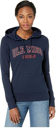 Ole Miss Rebels Eco(r) University Fleece Hoodie (Navy) Women's Sweatshirt