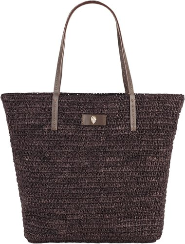 Small Raffia Tote - Brown