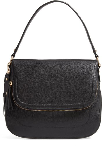 Bella Leather Crossbody Bag - Black
