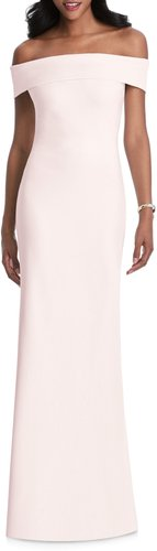 Off The Shoulder Stretch Crepe Gown