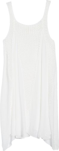 Crochet Inset Cover-Up Dress