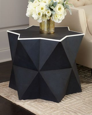 Anya Faux-Shagreen Side Table