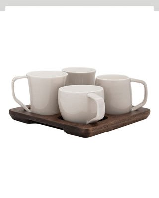Tasting Cup Set W/ Acacia Wood Tray