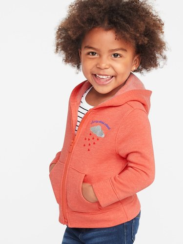 Graphic Zip Hoodie for Toddler Girls
