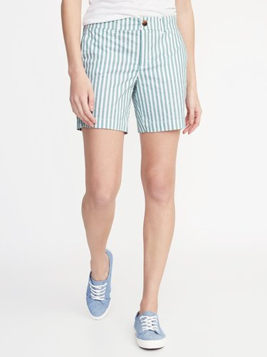 Mid-Rise Twill Everyday Shorts for Women - 7-inch inseam