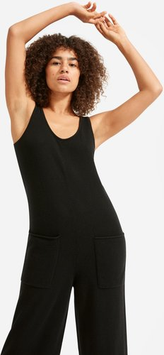 ReCashmere Lounge Jumpsuit Sweater by Everlane in Black, Size XL
