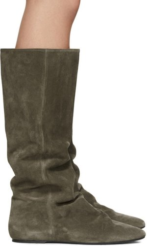 Brown Suede Reona Boots