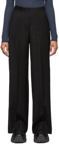 Black Wool Transition Trousers