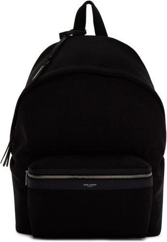 Black Canvas City Backpack