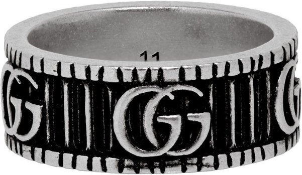 Silver GG Marmont Ring