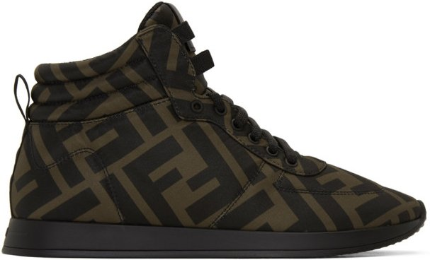 Brown and Black Forever Fendi Sneakers