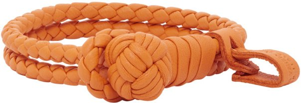 Orange Slim Double Intrecciato Bracelet