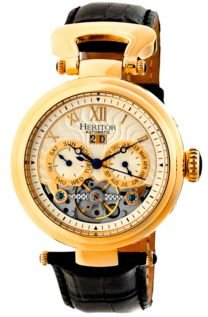 Automatic Ganzi Gold & Silver Leather Watches 44mm