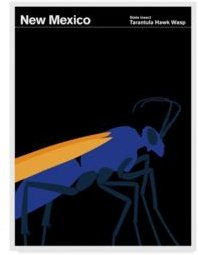 """Print Collection - Artist 'New Mexico Wasp' Canvas Art - 24"""" x 32"""""""