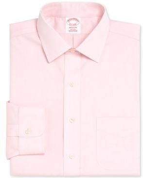 Madison Classic/Regular Fit Non-Iron Solid Pinpoint Solid Dress Shirt